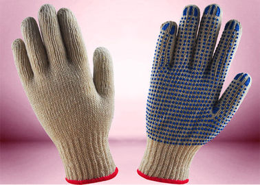 Non Toxic Cotton Knitted Hand Gloves , Industrial Knitted Gloves Ergonomic Design