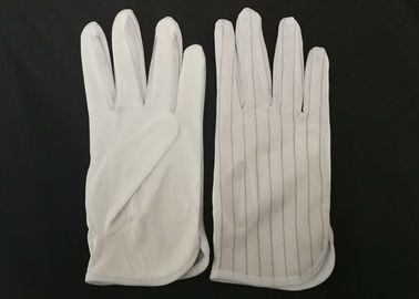 Micro Fiber Palm Anti Static Gloves 75D Non Toxic Materials With Polyester Binding